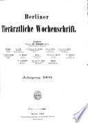 Berliner tier  rztliche Wochenschrift
