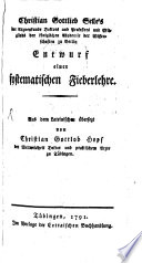 Christian Gottlieb Selle's Entwurf einer systematischen Fieberlehre