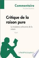 Critique de la raison pure de Kant   La troisi  me antinomie de la raison  Commentaire