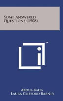 Some Answered Questions  1908