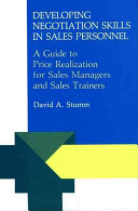 Developing negotiation skills in sales personnel