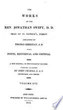 The Works of the Rev  Jonathan Swift