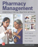 Pharmacy Management  Essentials for All Practice Settings  Fourth Edition