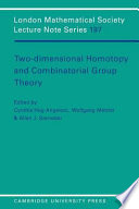 Two Dimensional Homotopy and Combinatorial Group Theory