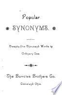 Popular Synonyms