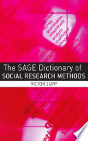 The SAGE Dictionary of Social Research Methods