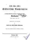 Historische nachrichten von Nordhausen