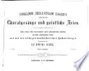 Johann Sebastian Bachs mehrstimmige Choralgesänge und geistliche Arien
