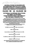 Les relations économiques extérieures des pays du CAEM