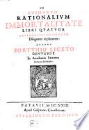 De animarum rationalium immortalitate