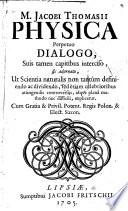 M  J  Thomasii     Philosophia instrumentalis et theoretica