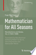 Mathematician for All Seasons Of Hugo Steinhaus 1887 1972 Noted Polish