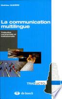 illustration du livre La communication multilingue