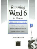 Running Word 6 for Windows