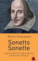 Sonetts   Sonette  Shakespeare  Zweisprachig  Englisch Deutsch