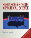 Research Methods in Political Science  An Introduction