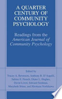 A Quarter Century of Community Psychology Book PDF