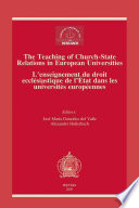 illustration Enseignement Du Droit Ecclésiastique de L'état Dans Les Universités Européenes