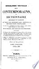 Biographie nouvelle des contemporains  1787 1820
