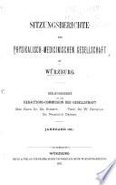 Sitzungsberichte der Physikalisch medicinischen Gesellschaft zu W  rzburg