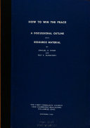How to Win the Peace Book PDF