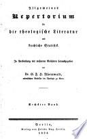 Allgemeines Repertorium für die theologische Literatur und kirchliche Statistik