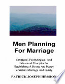 Men Planning For Marriage
