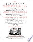 La morale chretienne. De christelyke zedekunst ... Vertaalt, ook met kanttekeningen, en toepassende vaerzen verrykt door François Halma