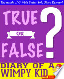 download ebook diary of a wimpy kid - true or false? g whiz quiz game book pdf epub