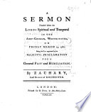 A Sermon  on Ps  xx  7  preached before the Lords      March 14  1760  being the day appointed for a General Fast and Humiliation