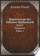 Repertorium der h?heren Mathematik
