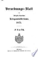 Verordnungsblatt des Königlich Bayerischen Kriegsministeriums