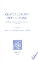 Chateaubriand m  morialiste