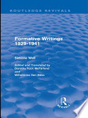 Formative Writings  Routledge Revivals