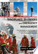 Disciplines  Disasters  and Emergency Management