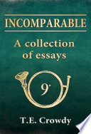 Book Incomparable  A Collection of Essays