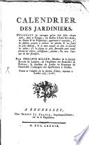 illustration Calendrier des Jardiniers ...