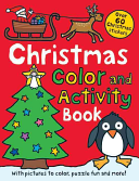 Christmas Preschool Color And Activity Book : book. there are puzzles to complete, pictures...