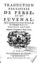 Traduction des Satires de Perse et de Juvénal
