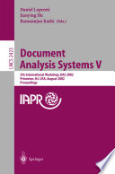Document Analysis Systems V