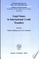 Legal issues in international credit transfers