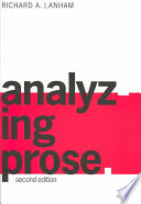 Analyzing Prose