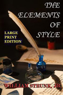 The Elements of Style   Large Print Edition