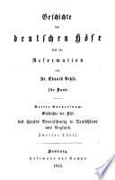 Geschichte der deutschen H  fe seit der Reformation