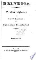 """Denkwürdigkeiten für die 22"""" Freistaaten der Schweizerischen"""