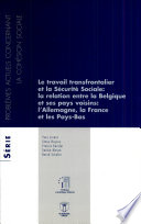 Le travail transfrontalier et la s  curit   sociale