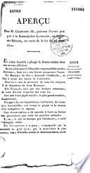 Aperçu pour M. Chastaing fils, prévenu d'avoir pris part à la souscription lyonnaise en faveur des détenus, en vertu de la loi du 26 mars 1820...
