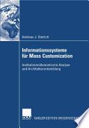 Informationssysteme für Mass Customization