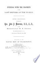 Evenings with the Prophets on the Lost Empires of the World Book PDF