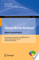 Human Mental Workload Models And Applications